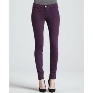 H&M Skinny Low Waist Plum Pants Jeans